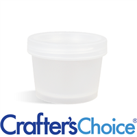 3.4 oz Natural Plastic Pot & Lid Set