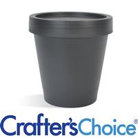 6.7 oz Black Plastic Pot & Lid Set