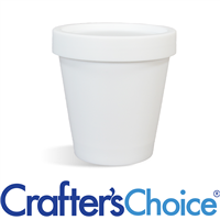 6.7 oz White Plastic Pot & Lid Set