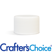 24/410 White PP Ribbed Cap with Foam Liner