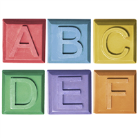 Alphabet Block Soap Mold - A to F (Special Order)