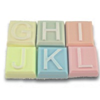Alphabet Block Soap Mold - G to L (Special Order)