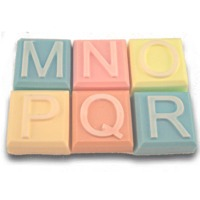 Alphabet Block Soap Mold - M to R (Special Order)