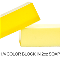 Stained Glass Lemon Yellow Soap Color Blocks