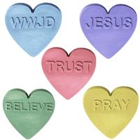 Christian Hearts Soap Mold (MW 508)