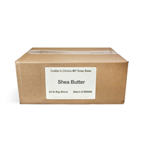 Premium Shea Butter MP Soap Base - 24 lb Block