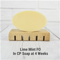 Lime Mint FO in CP Soap