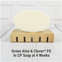 Green Aloe & Clover FO in Cold Process Soap