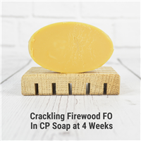 Crackling Firewood in Cold Process Soap