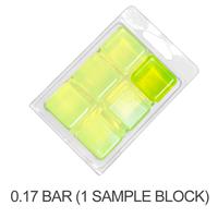 Stained Glass Brilliant Lemon Lime Color Blocks