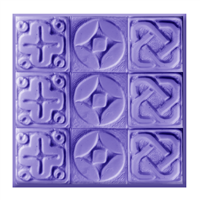 Glyphs Tray Soap Mold (Special Order)