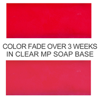 Stained Glass Strawberry Red Powder Color