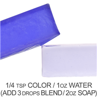 Stained Glass Violet Purple Powder Color