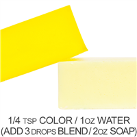 Stained Glass Lemon Yellow Powder Color