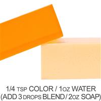 Stained Glass Citrus Orange Powder Color