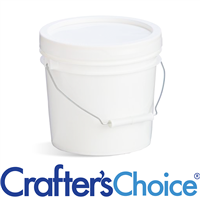 128 oz (1 gallon) White Bucket & Lid with Gasket