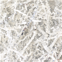 White & Silver Crinkle Paper