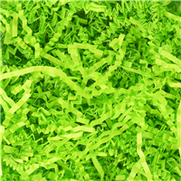Bright Green Crinkle Paper