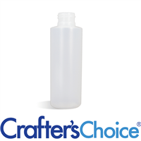04 oz Natural Cylinder Round Plastic Bottle - 24/4