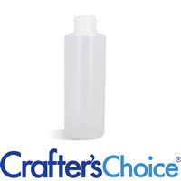 04 oz Natural Cylinder Round Plastic Bottle - 24/4