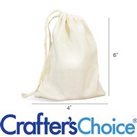 Muslin Drawstring Bags - Traditional 4 x 6