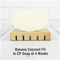 Banana Coconut FO in Cold Process Soap