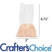 """Clear Poly Bags -  4.75"""" x 3"""" (100 bags/pack)"""