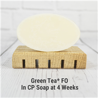 Green Tea* FO in Cold Process Soap