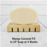 Mango Coconut Fragrance Oil in cold process soap.