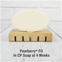 Pearberry* Fragrance Oil in cold process soap.
