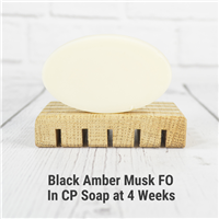 Black Amber Musk FO in Cold Process Soap