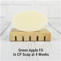 Green Apple FO in Cold Process Soap
