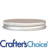 58/400 Silver Metal Basic Top Cap - Foam Liner