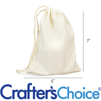 Muslin Drawstring Bags - Large 5 x 7