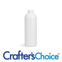 01 oz White Round Bullet Plastic Bottle - 20/410