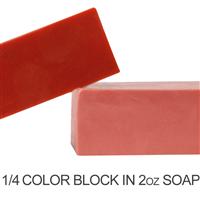 Matte Americana Red Soap Color Blocks