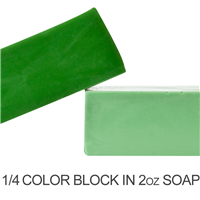Matte Woodland Green Soap Color Blocks