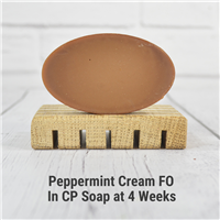 Peppermint Cream FO in CP Soap