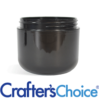 04 oz Black Double Wall Plastic Jar - 70/400