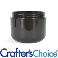 02 oz Black Double Wall Plastic Jar - 58/400