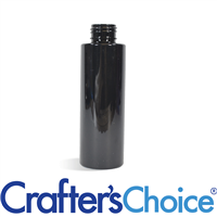 02 oz Black Cylinder Round Plastic Bottle 20/410