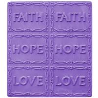 Faith, Hope, Love Soap Mold Tray (MW 08)