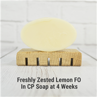 Freshly Zested Lemon FO in CP Soap