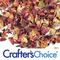 Rose Petals - Red Buds & Leaves