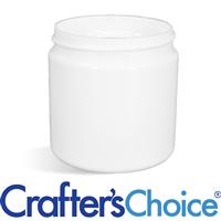 08 oz White Basic Plastic Jar - 70/400