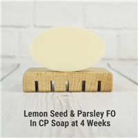 Lemon Seed & Parsley FO in CP Soap