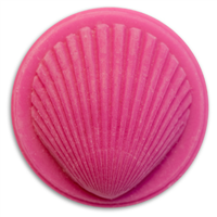 Shell Small Round Soap Mold (MW 161)