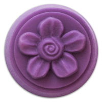 Spiral Flower Small Round Soap Mold (MW 162)