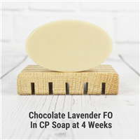 Chocolate Lavender FO in Cold Process Soap