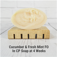 Cucumber and Fresh Mint Fragrance Oil in CP Soap